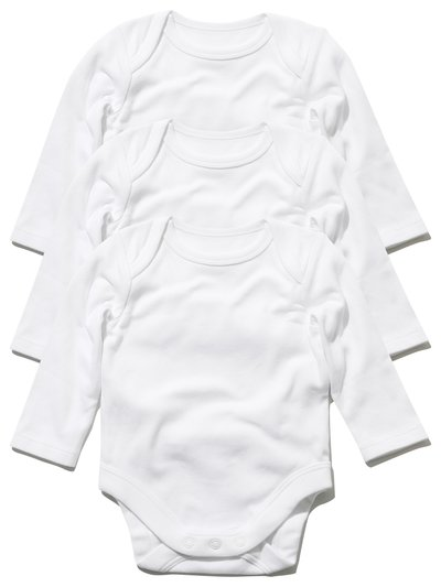 Long sleeved bodysuit three pack (Tiny baby - 18 mths)