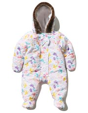 Bird print hooded snowsuit