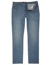 Light wash slim leg jeans