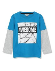 Awesome marble slogan t-shirt (3 - 12 yrs)