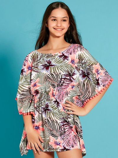 Teen tropical print kaftan