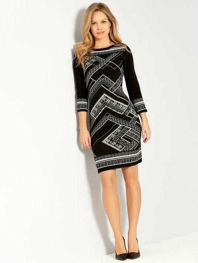 Glitter knit shift dress