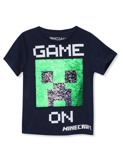 Minecraft two way sequin t-shirt (3 - 12 yrs)