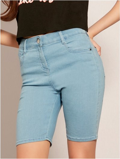 Teen denim cycling shorts