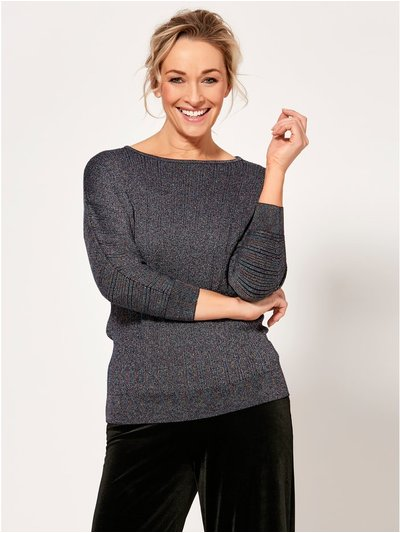 Spirit metallic ribbed jumper