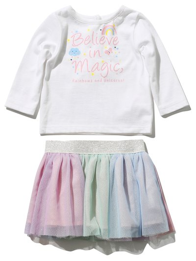 Believe in magic top and tutu skirt set