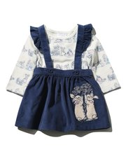 Peter Rabbit pinafore dress and bodysuit set