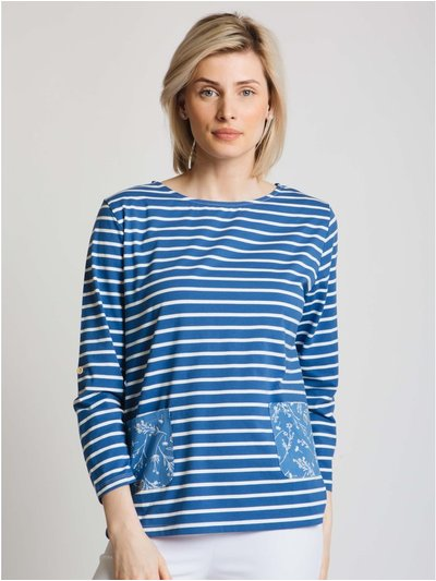 Jessica Graaf stripe and floral printed top