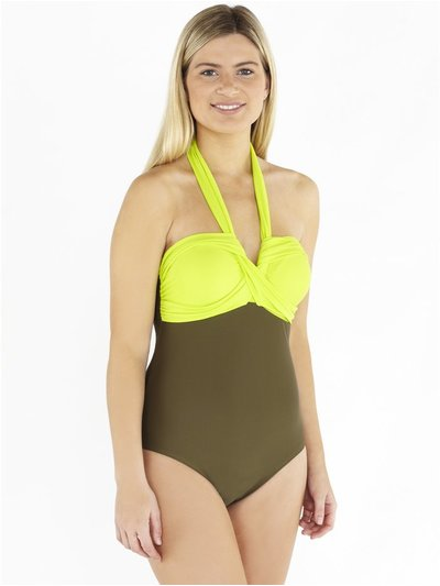 Beachcomber twist front swimsuit