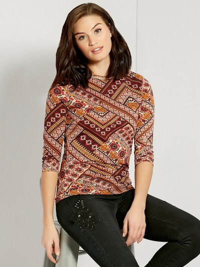 Floral patchwork print top