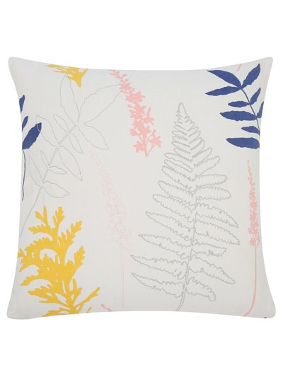 Embroidered fern cushion