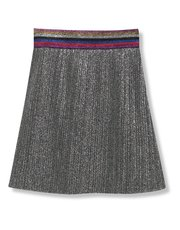 Metallic plisse skirt (3-12yrs)