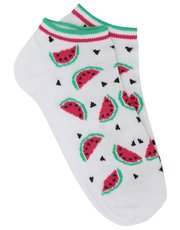 Watermelon trainer socks