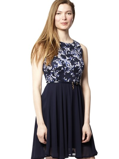 Izabel floral 2 in 1 skater dress