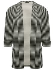 Petite striped ribbed blazer jacket