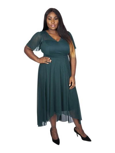 Scarlett and Jo plus dipping hem maxi dress