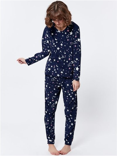 Fleece moon and star pyjama set