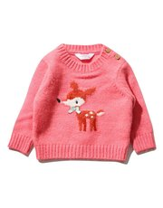 Deer knitted jumper (Newborn - 18 mths)