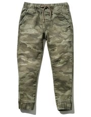 Camouflage denim look joggers