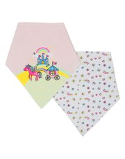 Unicorn rainbow dribble bibs two pack