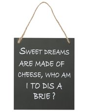 Sweet dreams cheese wall hanging sign