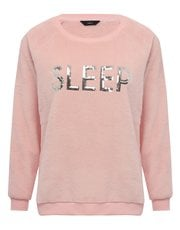 Sleep sequin loungewear top