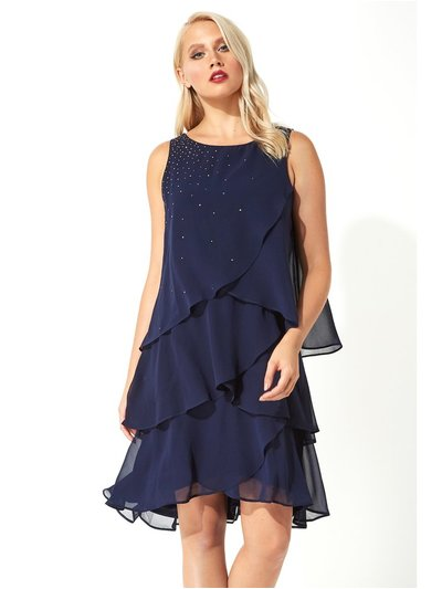 Roman Originals embellished frill swing dress