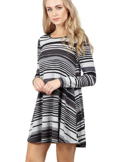 Izabel striped swing dress
