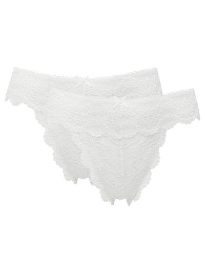 Lace high leg briefs two pack