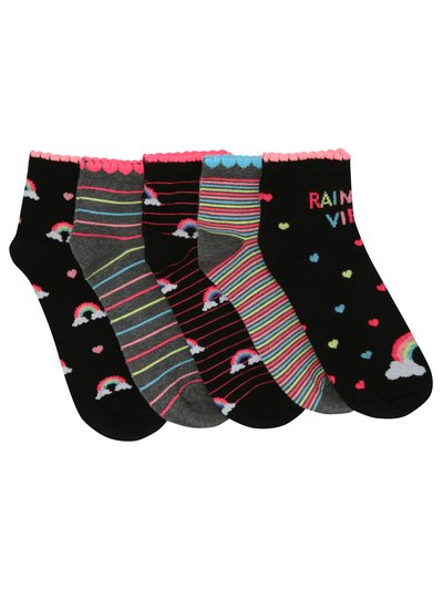 Teen rainbow socks five pack