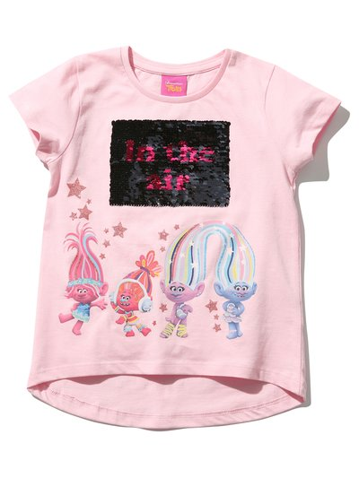 Trolls two way sequin t-shirt (3 - 10 yrs)