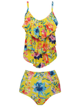 Sunshine Floral Tankini Set