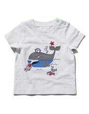 Whale applique t-shirt