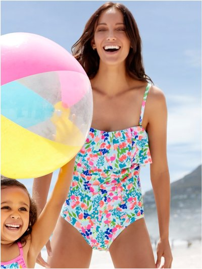 Sorbet frill tummy control multiway swimsuit