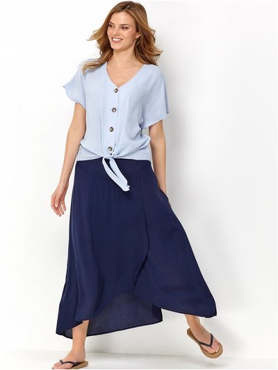 Navy wrap skirt