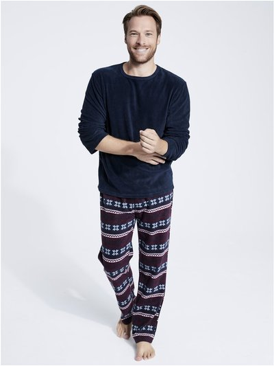 Fairisle print fleece pyjamas