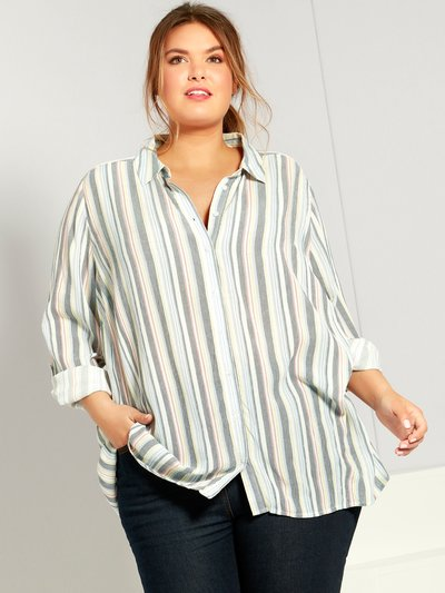 Plus stripe shirt
