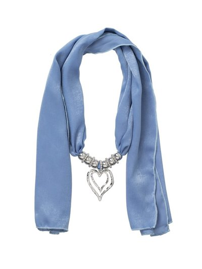 Blue jewellery scarf