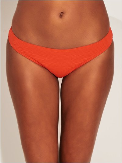 Orange textured bikini brief