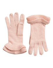 Pieces ruffle gloves