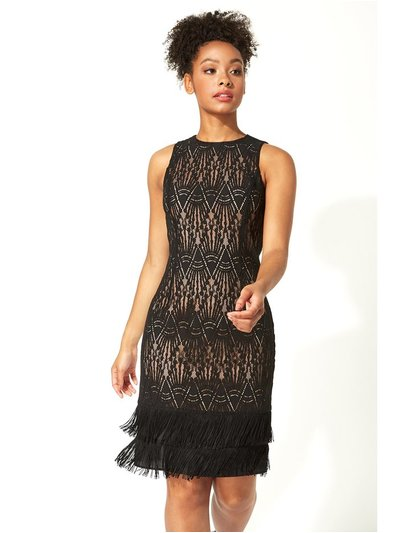 Roman Originals lace tassel sleeveless shift dress