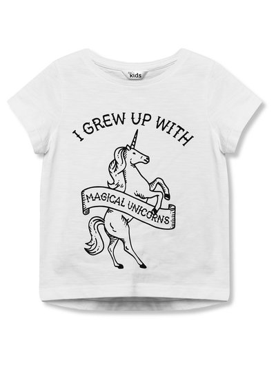 I grew up with unicorns t-shirt (3-12yrs)