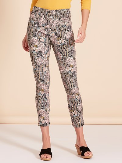 Paisley print ankle grazer jeans