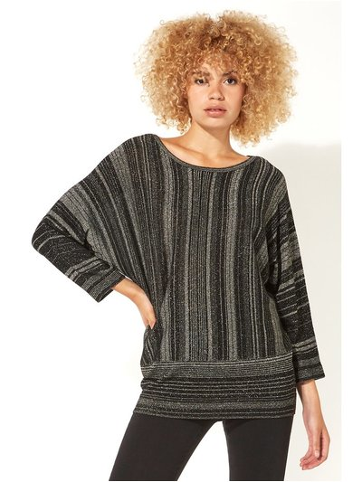 Roman Originals mixed stripe lurex jumper