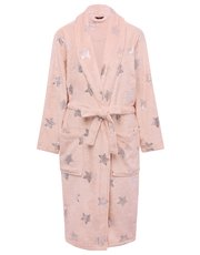 Silver star wrap dressing gown