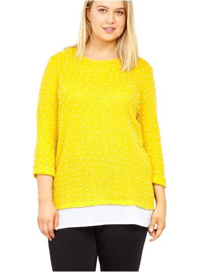 Izabel Curve textured polka dot top