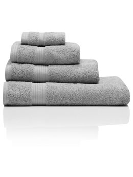 Grey Combed Cotton Towels