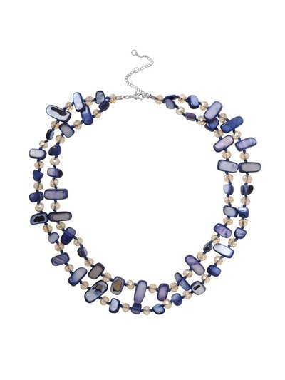 Navy Shell Layered Necklace