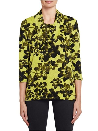 TIGI cowl neck floral top