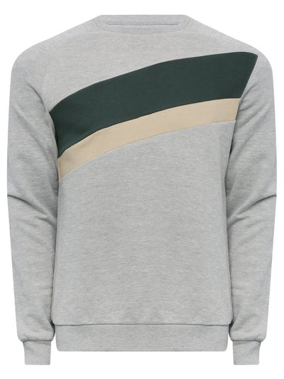 Diagonal stripe sweatshirt